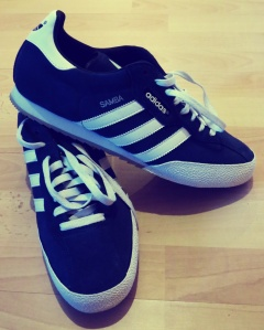 A beautiful shade of navy will adorn my feet from now on at footy matches in Europe.