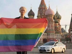 Making a stance.  Tilda Swinton stand up for basic human rights!