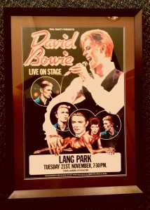 1978 Brisbane tour poster for Bowie's first Lang Park concrt