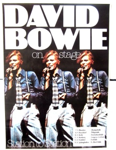 German tour poster from Bowie's 1976 European leg.