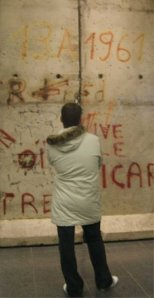 Remnants of the Berlin wall inside the National Gallery.