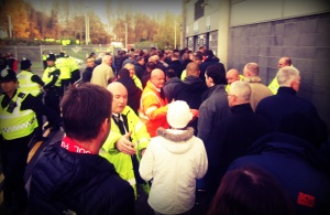 As always the security is a bit over the top with football supporters!