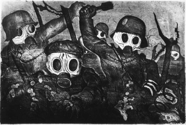 Stormtruppe geht unter Gas Vor- Otto Dix 1924._800