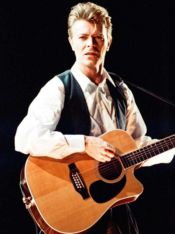 David Bowie performing at The Birmingham NEC, as part of his 1990 Sound and Vision World Tour.